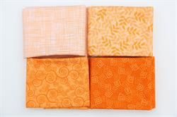 Harmoni Patchworkstof- Orange 4 stk/FQ