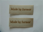 """Made by farmor"" mærker 2 stk"