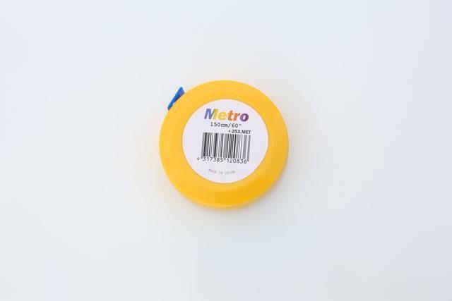Runde Målebånd med Inch/cm - Gul Et smart målebånd med både inch og ...