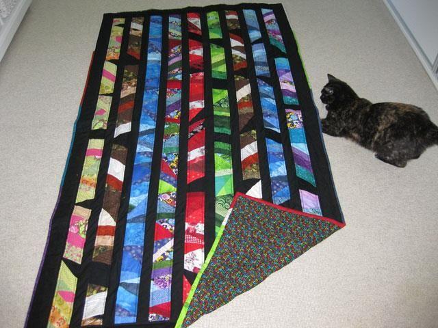Evas restetæppe - syet efter gratis mønster fra HANNES patchwork