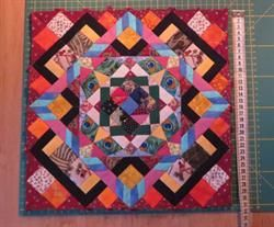 Mini quilt udfordring Lod 35 - Lones mini quilt