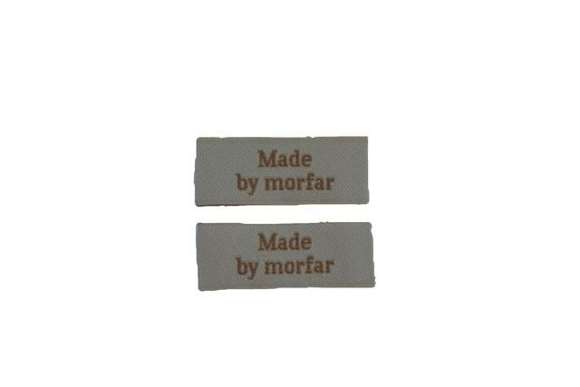 """Made by morfar"" mærker 2 stk"